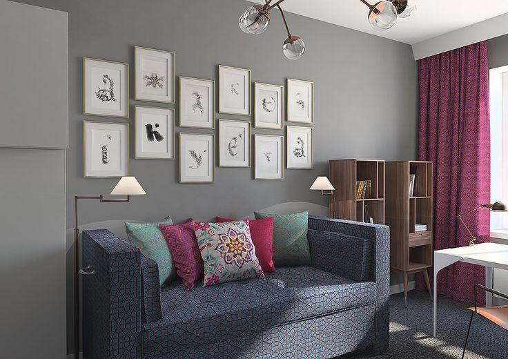 Интерьер детской комнаты для девочки-подростка в современном стиле
