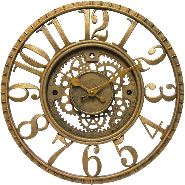 Antique Clocks Infinity Instruments Gear Open Dial Resin Clock Wall Decor Home
