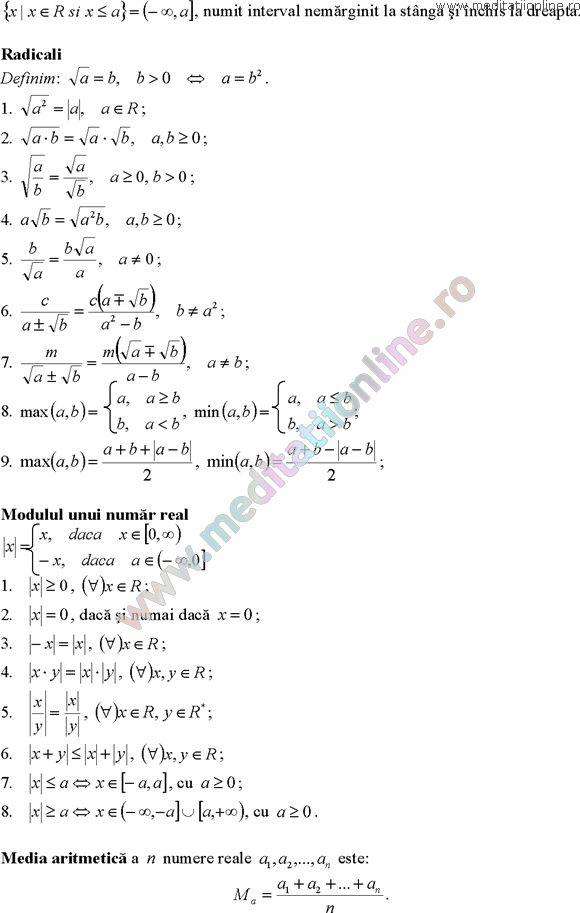 Formule matematica gimnaziu 5 8 Formule si teorie Algebra clasele 5 8 pagina 5