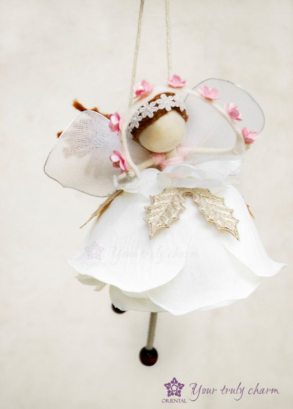 Flying Fairy for Christmas White Angel Doll by OrientalColour