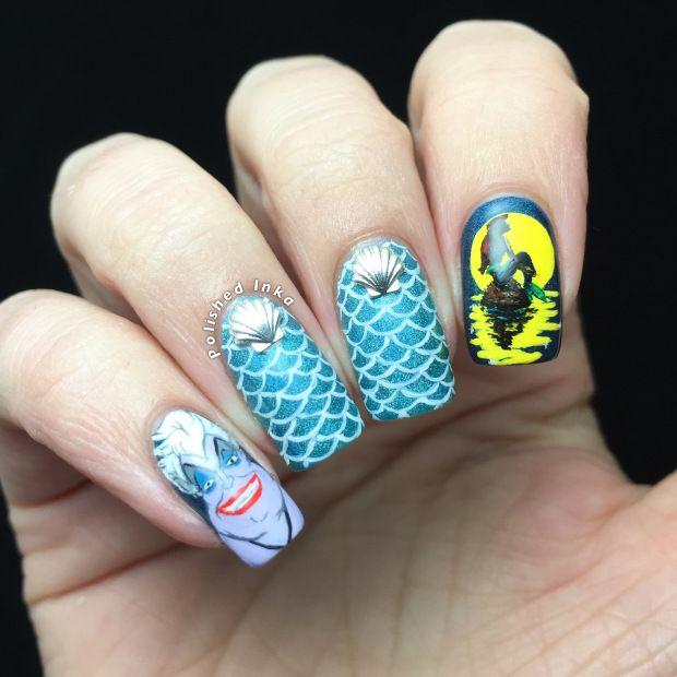 The Little Mermaid Nail Art - The 25+ Best Little Mermaid Nail Art Ideas On Pinterest Little