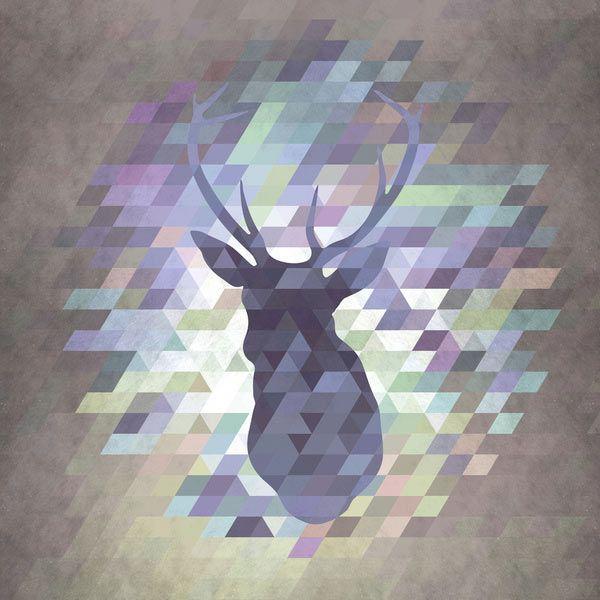Deer art print by Deniz Erçelebi