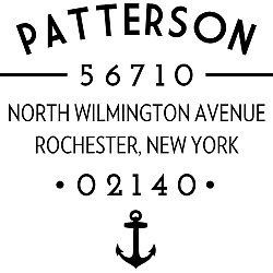 Nautical Address Stamps Anchor Typography