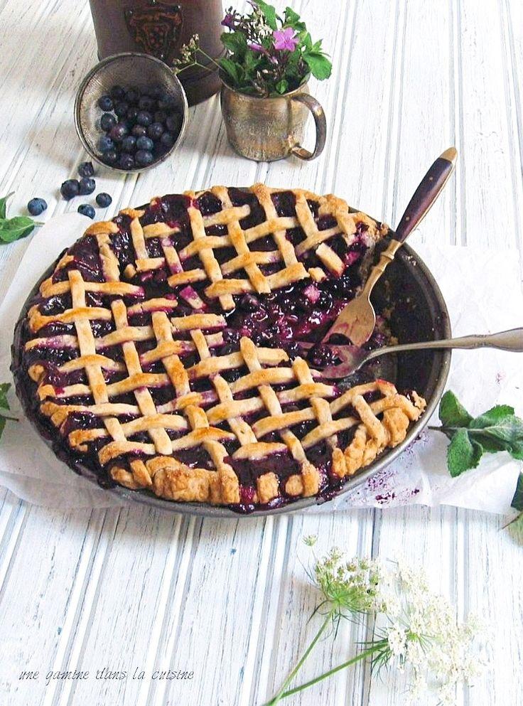 Midnight in Paris Blueberry & Mint Pie