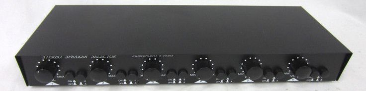 6-Channel Home Stereo Speaker Selector 6CH Black, On/Off A/B Volume Knob