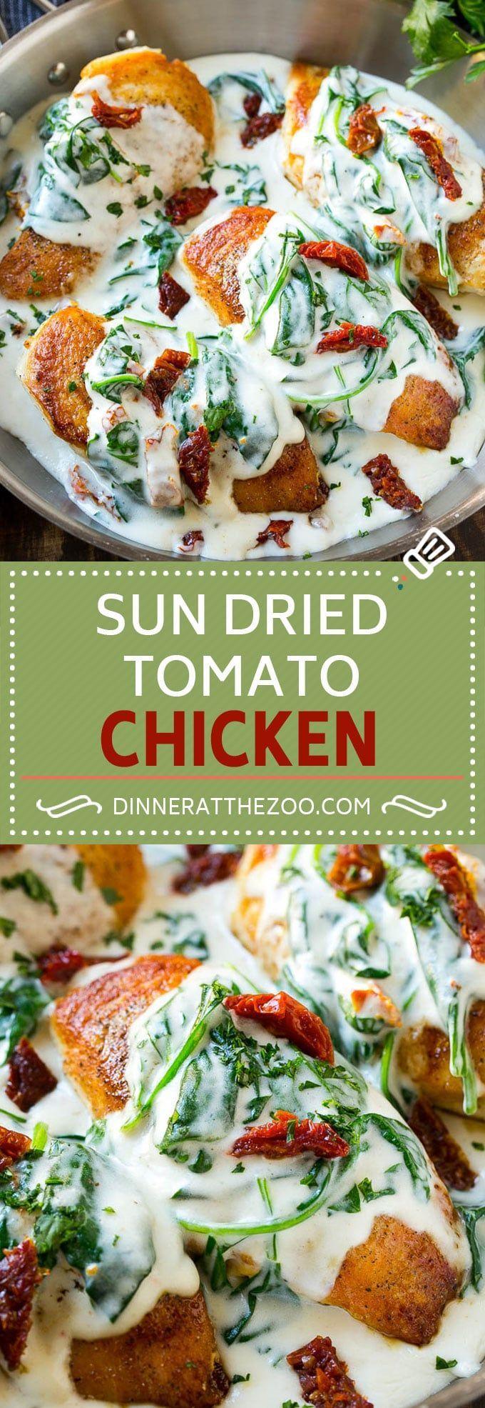 Sun Dried Tomato Chicken Recipe   Chicken in Sun Dried Tomato Sauce   Chicken with Cream Sauce   Chicken with Spinach   Italian Chicken