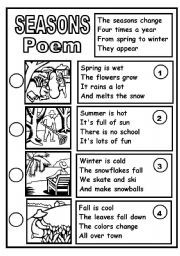 English teaching worksheets: Poems