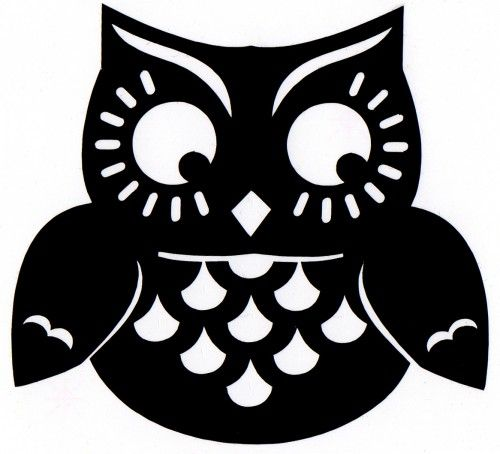 fat owl self adhesive vinyl decal