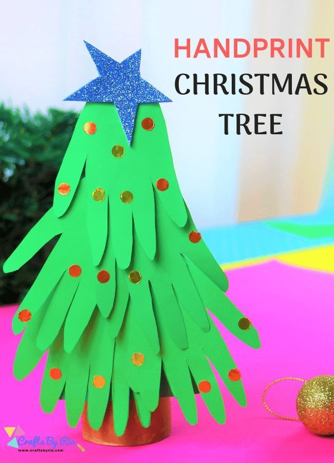 Handprint Christmas Tree Craft For Kids Christmas Tree Crafts Handprint Christmas Christmas Crafts For Kids
