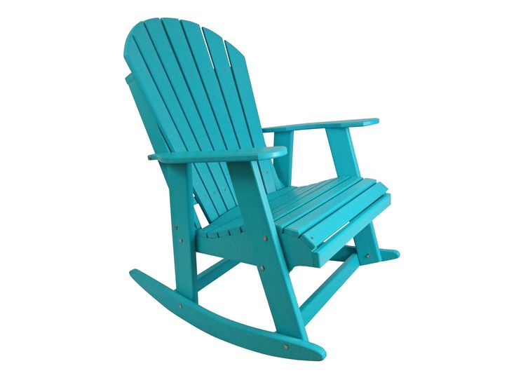 Poly Adirondack Rocking Chair #RockingChair