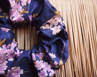 Elastici capelli, Accessori capelli, Elastico capelli, Fascia capelli, Stoffa giapponese, Accessorio stoffa,Motivo giapponese, Idee regalo