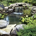 waterfall into pond :)