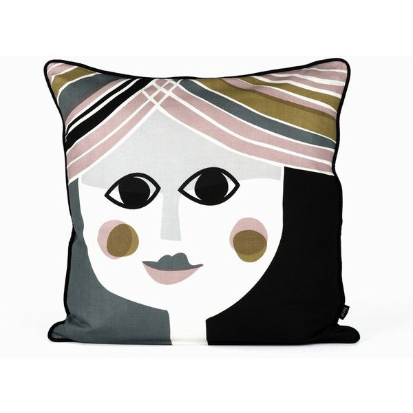Mrs. Cushion design by Ferm Living ($85) ❤ liked on Polyvore featuring home, home decor, throw pillows, pillows, silk throw pillows and ferm living