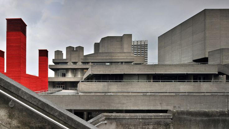 Next up in our series on Brutalist buildings is the National Theatre, London by Denys Lasdun,