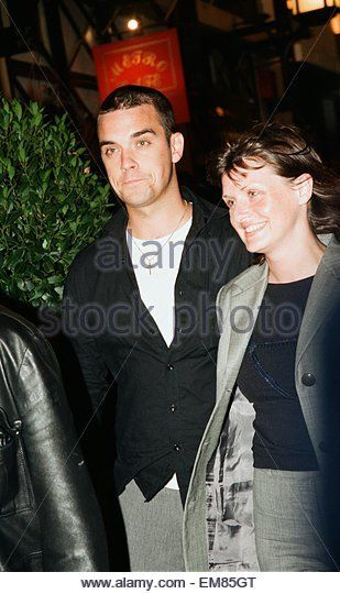 Robbie Williams & sister Sally Symonds pictured together at Heaven nightclub in London, 30th July 1998. - Stock Image