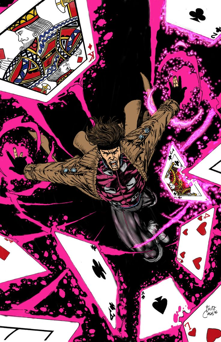 Gambit.... i wish they had him in the other x men movies... more then just the Origins of wolverine