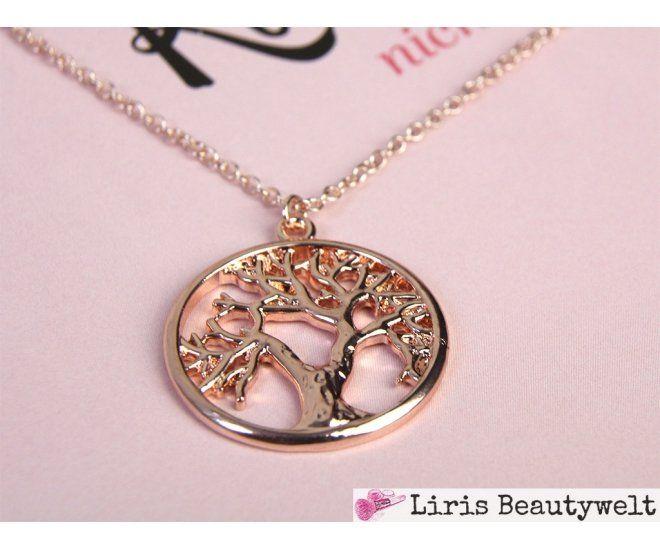Halskette Lebensbaum Roségold | Liris Beautywelt Online-Shop