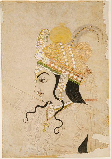 Head of Krishna, ca. 1800 Attributed to Sahib Ram India (Rajasthan, Jaipur)