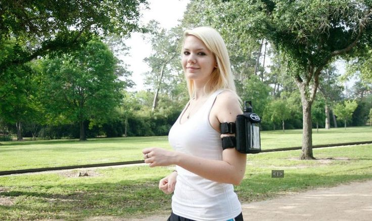 The Kenmark Armband Water Bottle stores everything you need in one package