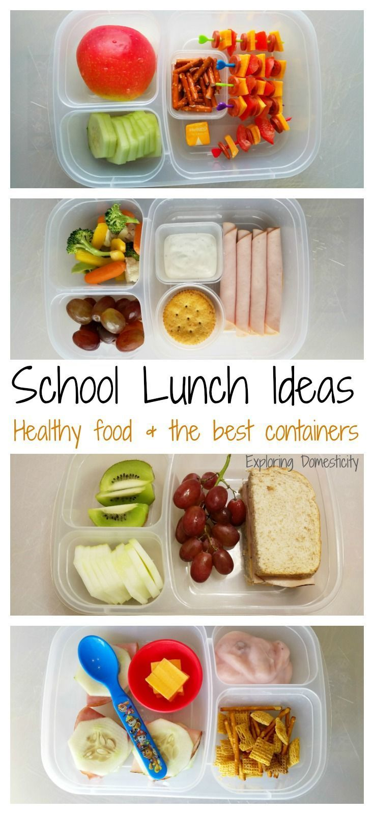 School Lunch Ideas: healthy food and the best containers #schoollunches #healthylunches #lunches #kidsfood #kidsmeals