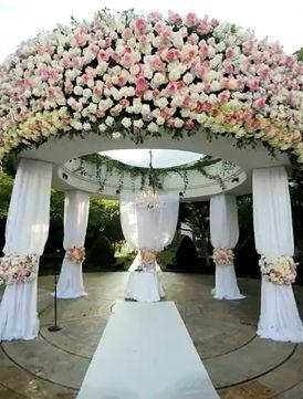 Grand wedding ceremony decoration