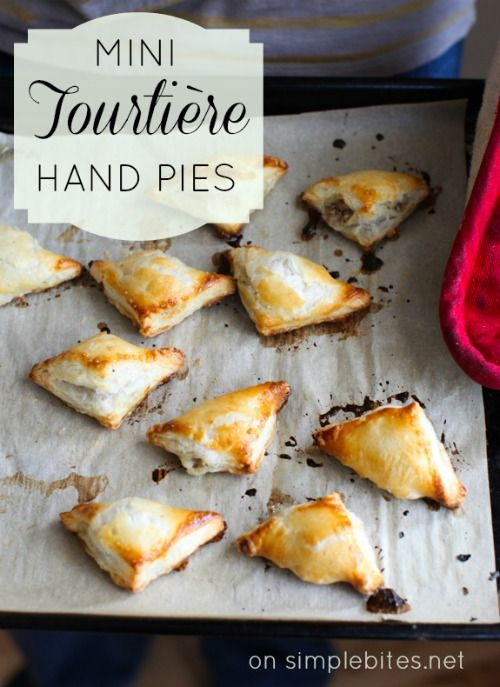 """Tourtiere Hand Pies for a Beer Tasting :: Yummy recipe & cute blog: """"Why a manly man made dainty hand pies and why you should too"""" via Simple Bites"""