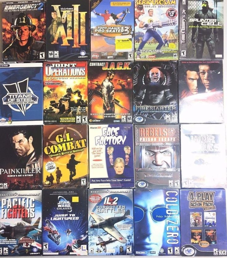BIG BOX LOT 20 GAMES ACTION FIGHTER SIMULATOR MILITARY FPS STAR WARS WIN XP #1