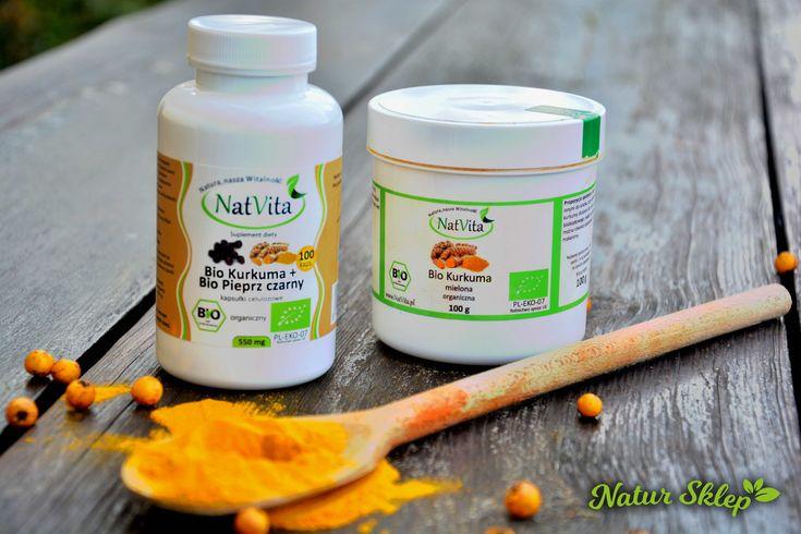 Sprawdź jakie właściwości prozdrowotne niesie za sobą zawarta w kurkumie kurkumina. Czy pieprz zwiększa jej skuteczność? Przeczytaj na blogu Natur Sklep!!!