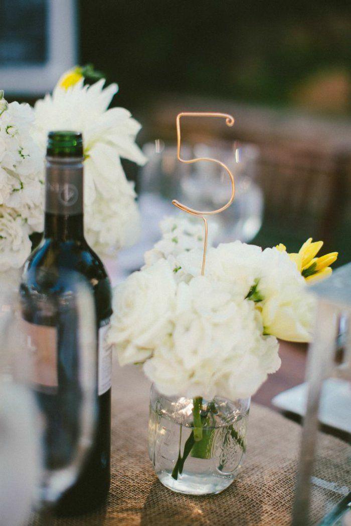 Idées de la décoration du mariage à faire soi meme