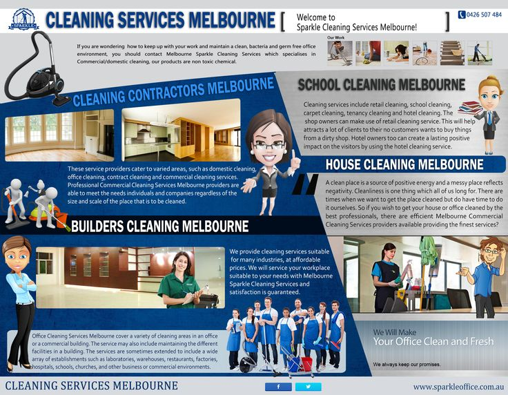 Try this site http://www.sparkleoffice.com.au/Melbourne-Commerical-Cleaning-Services.html for more information on School Cleaning Melbourne. A clean school is a healthier school. In today's era of widespread infectious diseases, using superior products for School Cleaning Melbourne can make the difference between health and illness for students, teachers and administrators.
