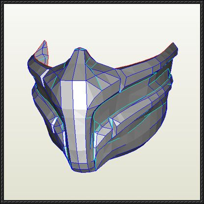 Mortal Kombat - Smoke Mask Papercraft Free Template Download