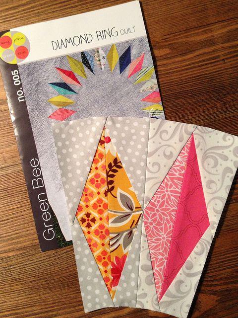 605 best Triangle / Diamond Quilts images on Pinterest | Jellyroll ... : diamond ring quilt pattern - Adamdwight.com