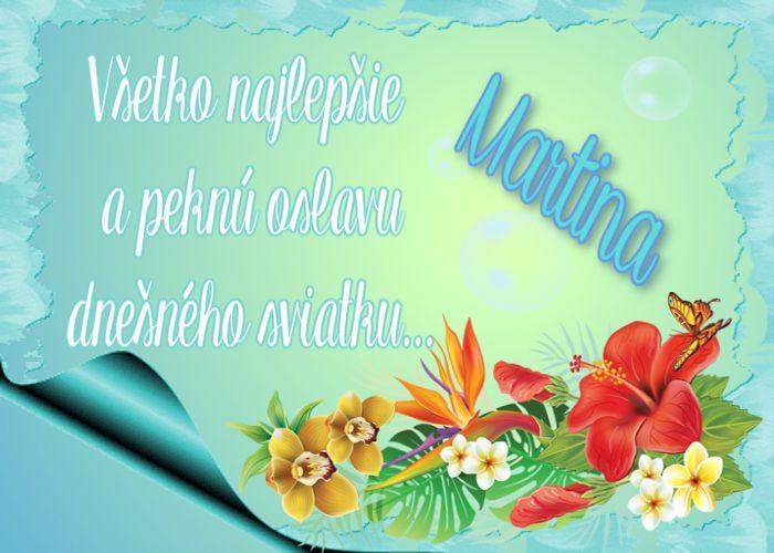 Martina Všetko najlepšie  a peknú oslavu dnešného sviatku...
