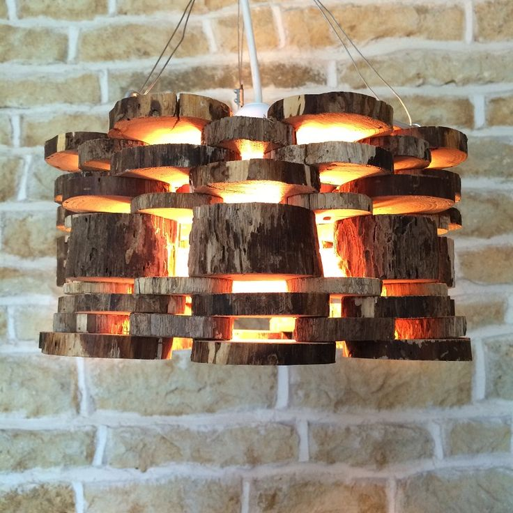 Wooden Log Light Fixture