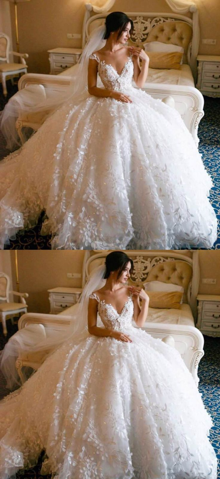 Lace Straps Ball Robe V-neck Lengthy Marriage ceremony Clothes On-line, Low-cost Bridal Clothes, …