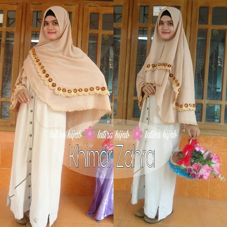 Hijab bordir, hijab syar'i, hijab embroiderry, khimar Indonesia