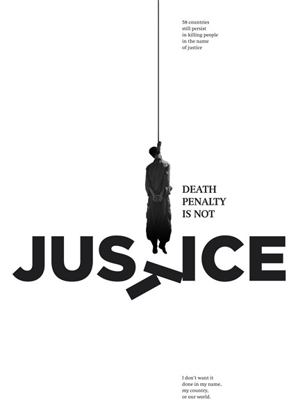 """""""Death is not Justice"""" ⓒPoster for Tomorrow 