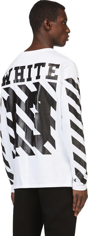 Off-White White & Black Printed Virgil Abloh Edition Shirt