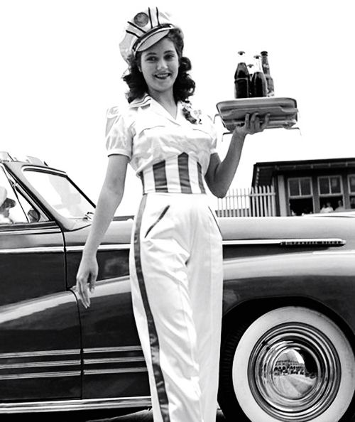 1940's car hop....wish we still had these