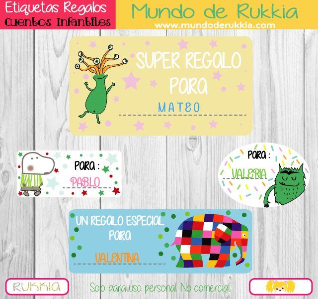 40 Etiquetas para Regalos de Cuentos Infantiles | Pinterest ...