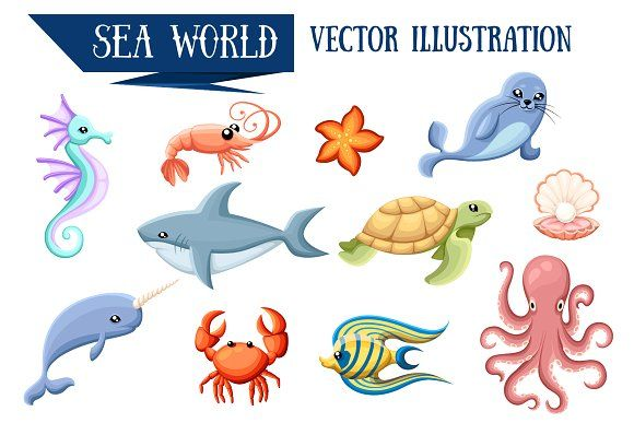 25+ Animals Live On Land And Water Clipart
