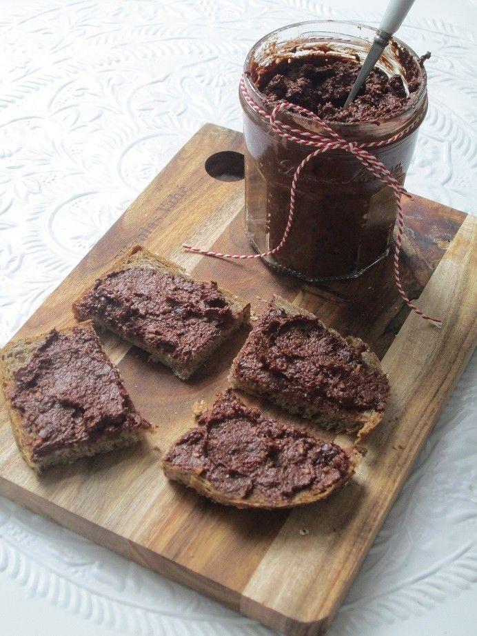 Recept suikervrije hazelnootpasta - suikervrij, choco, chocolade, chocopasta, chocoladepasta, gezond, vers,