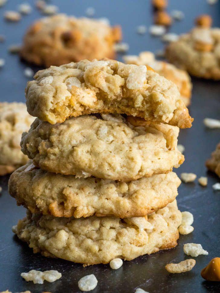 Ranger Cookies Rice Crispy Cookies Recipe Crispy Cookies Quick Easy Desserts Rice Crispy Treats Recipe