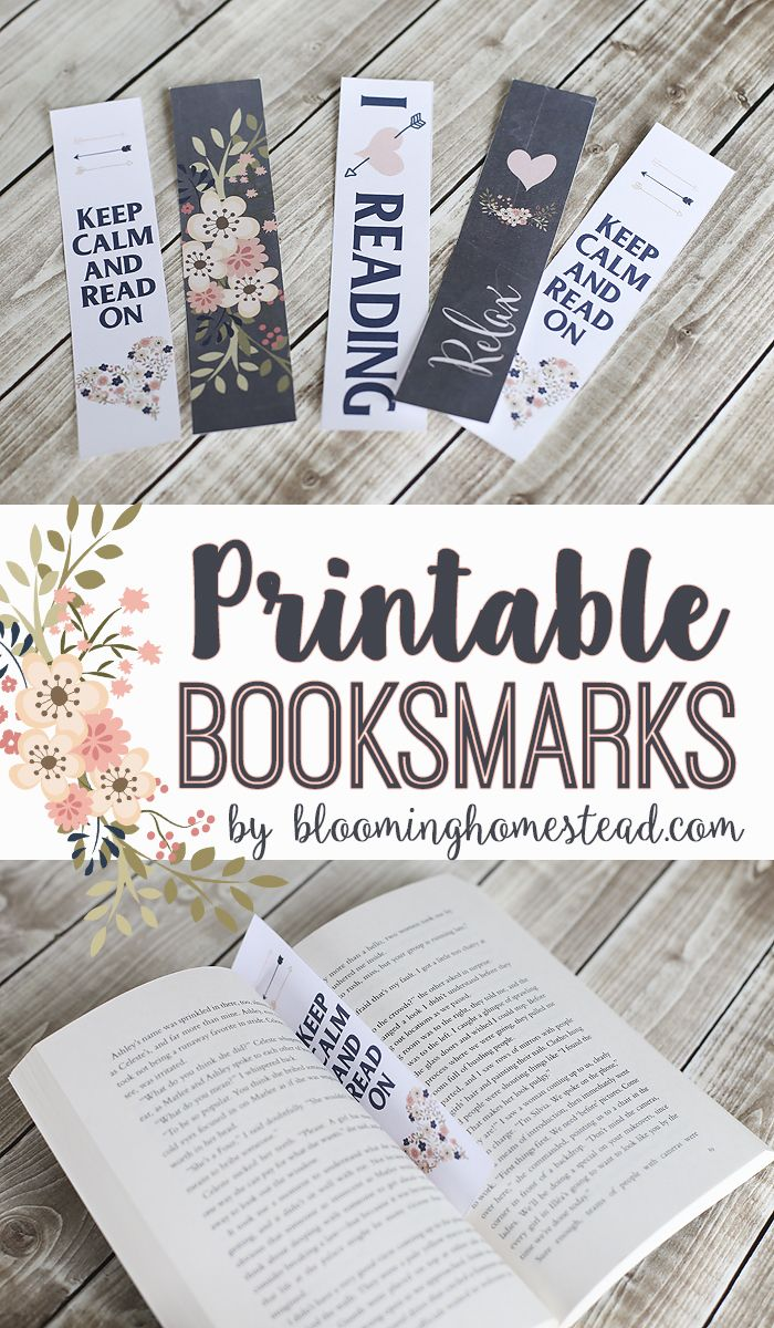 Printable Bookmarks and my new favorite book