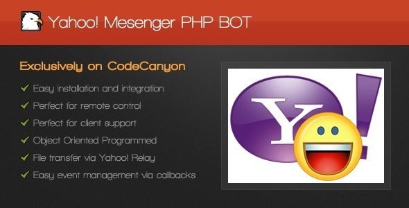 Yahoo! Messenger PHP BOT . Having no particulary best use, the BOT can fullfill a great variety of tasks, such
