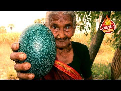 Emu Egg Fry || Healthy Emu Egg Recipe By 106 Years Old Granny - YouTube