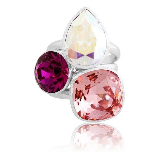 Rio De Janeiro Summer 2018 Stacker Ring Set #bling #MarisaKateDesigns #Swarovski #crystal #jewel #sterlingsilver