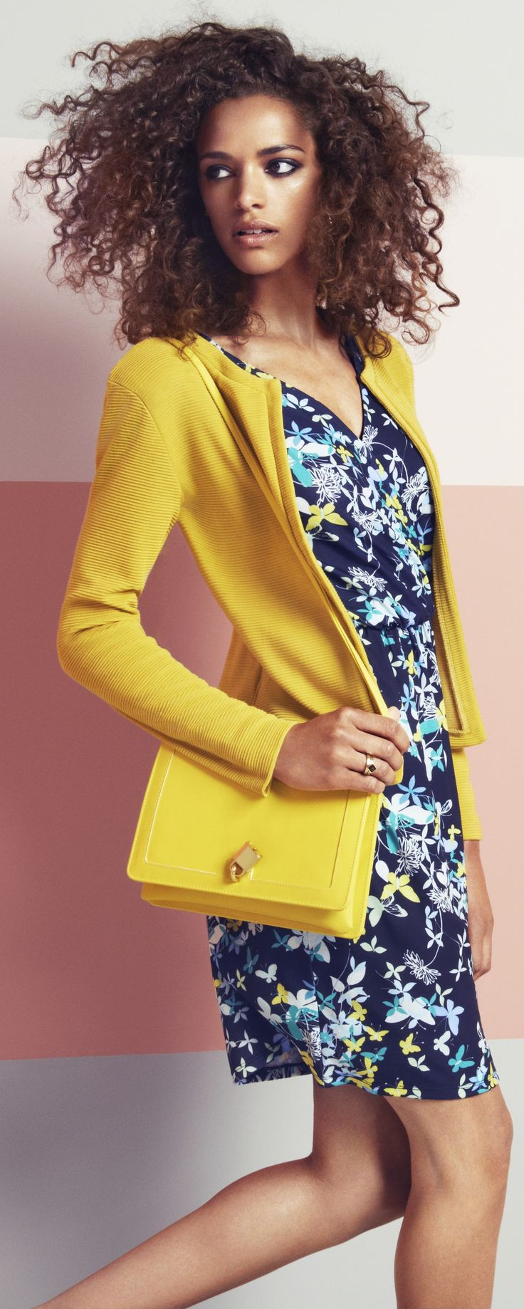 spring clothing. Cute yellow purse (and outfit) for spring 2015 for a zap of color. House of fraser. Get it now to add a pop of winter happiness to your outfits - or - Read tips for travel handbags - (updated article) - http://www.boomerinas.com/2013/02/02/best-crossbody-bags-for-travel-women-over-40-50-60/