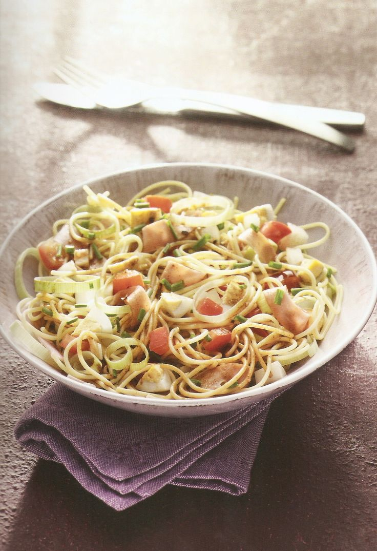 Weight Watchers - Spaghettisalade met ham en ei