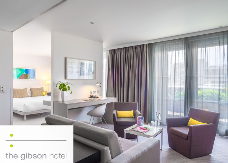 Junior Suite at the Gibson Hotel, Dublin, Ireland.